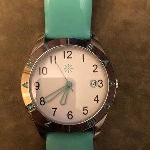 Isaac Mizrahi Watch on Patent Leather Band